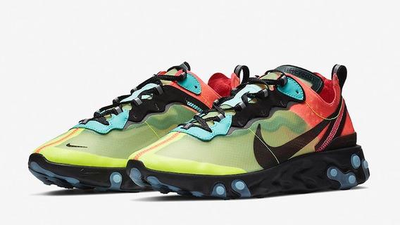 Zapatillas Nike React Element 87 Aurora Verde // Nuevo 2019