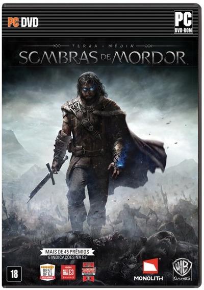Jogo Sombras De Mordor - Pc Steam (dvd Lacrado / Novo / Pt)