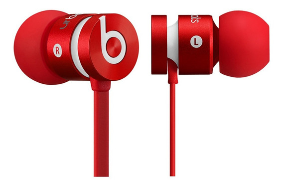 Fone De Ouvido Urbeats Intra-auricular Beats Vermelho