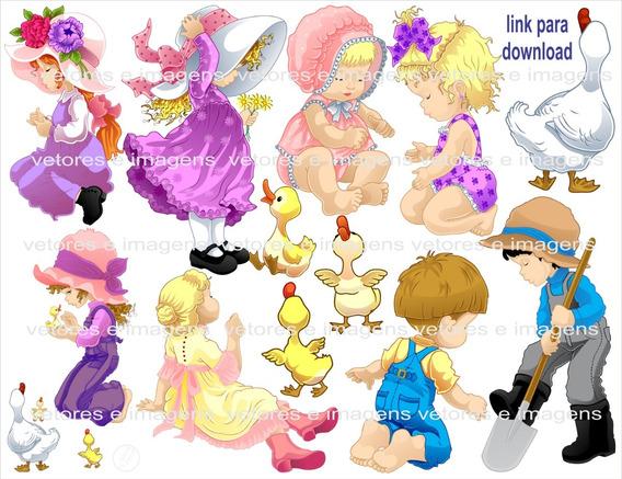 Crianças Infantil Menina Menino Vetor Imagens Envio Imediato