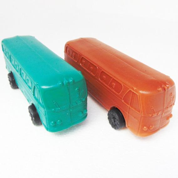 Brinquedo Carrinho Ônibus Joreal Plástico Bolha Soprado 1:28