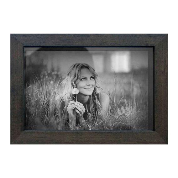 Porta Retratos De Mesa Para Foto 10x15 Cm Imbuia