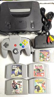 Consola Nintendo 64 Con 5 Juegos Original Banjo - Kazooie