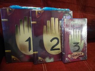 Diario 1, 2 Y 3 Gravity Falls + Pluma Conlampara Uv + Regalo