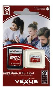 Cartão De Memória 64gb Micro Sd Original Classe 10 80mb/s