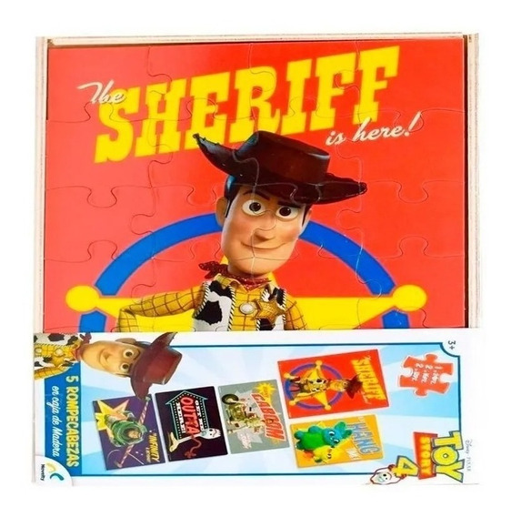 5 Rompecabezas En Caja De Madera Toy Story 4 Forky