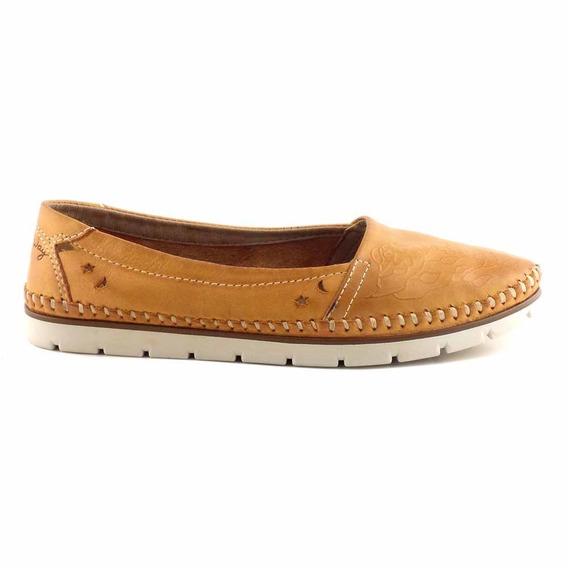 Mocasin Cuero Mujer Chatita Zapatos Zapato - Mcmo03645