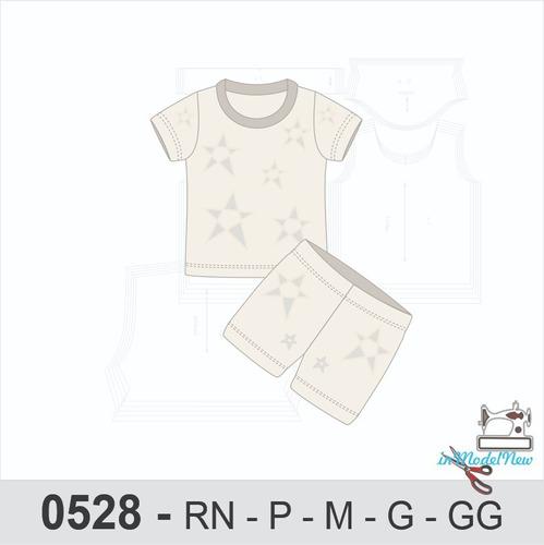 Molde Digital Moldes Para Pijama Bebê De Verão