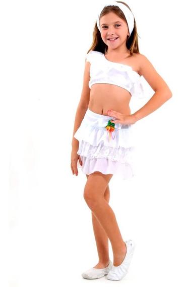 Roupa De Carnaval Infantil Pra Menina Baiana Baianinha P M G