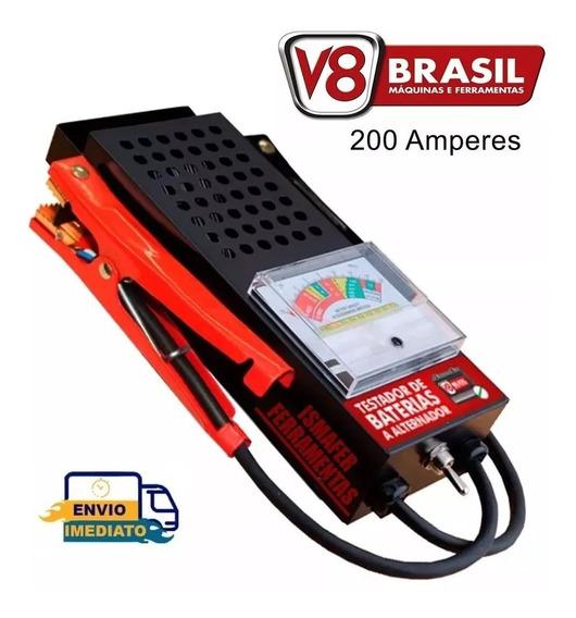 Testador De Baterias E Alternador 200a Tba200 V8 Brasil