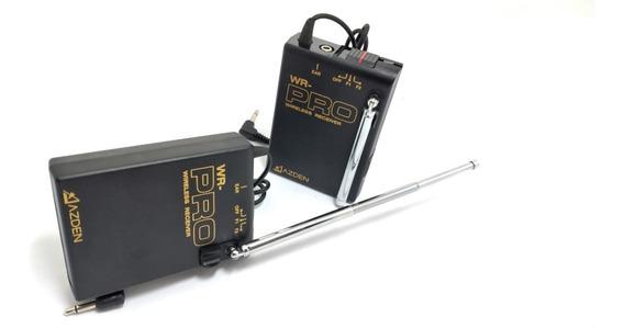 Receptor Com Dois Canais Vhf Wr-pro Para Dslr - 2 Unidades