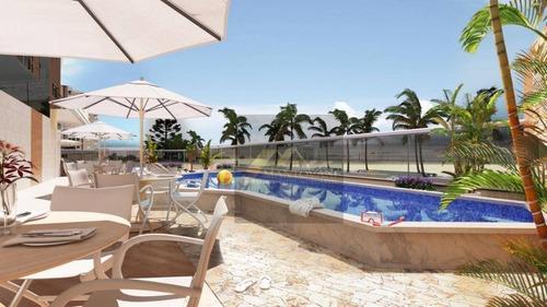 Apartamento Com 2 Dormitórios, Sendo 01 Suíte, 01 Vaga De Garagem , Varanda Gourmet, Praia Grande/sp - Lançamento! - Ap1862