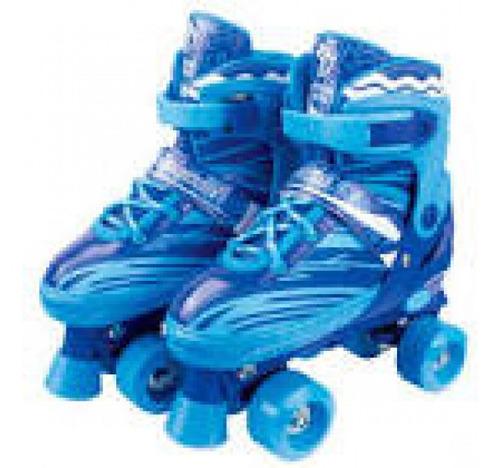 Patins 04 Rodas Ajustavel Azul 30-33