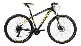 Bicicleta Mountain Bike Rodado 29 Top Mega Thor Aluminio Shimano Disco Suspension Llanta Doble Varon Mujer Happy +regalo