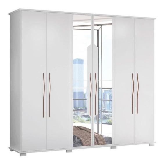 Guarda-roupa Casal Com 6 Portas Evoque-móveis Albatroz
