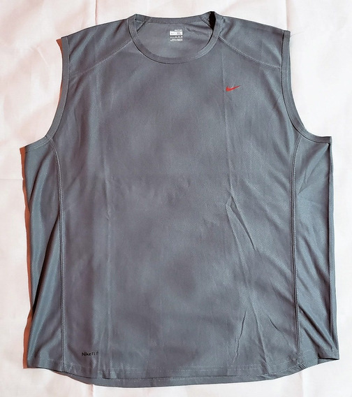 Musculosa Nike Dry Fit (gris Y Negra), Hombre, Talle Xl