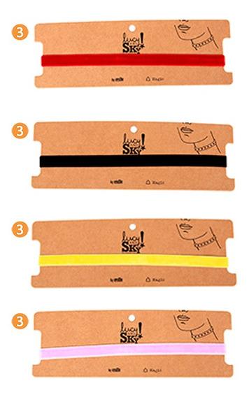 Pack Choker Collar - Modelo Terciopelo X12u