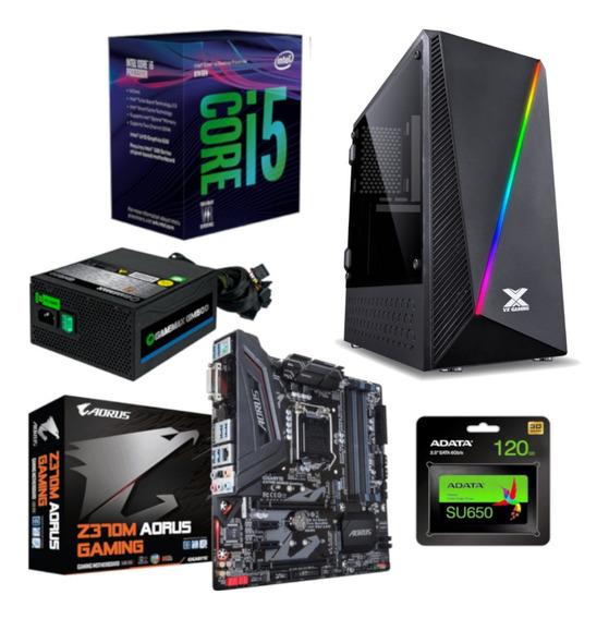 Pc Pyxis Intel I5 8400 Aorus Z370m Gamemax Gm500 Ssd A 120gb
