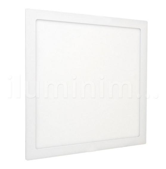 Painel Plafon Led 42w 40x40 Branco Frio Embutir Quadrado