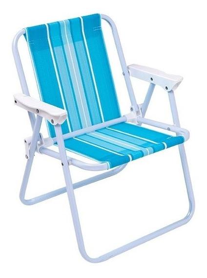 Cadeira De Praia Infantil Dobrável Mor Aço Menino