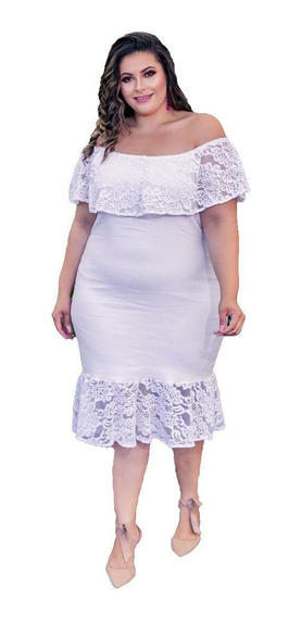 Vestido Plus Size Renda Ciganinha Roupas Femininas