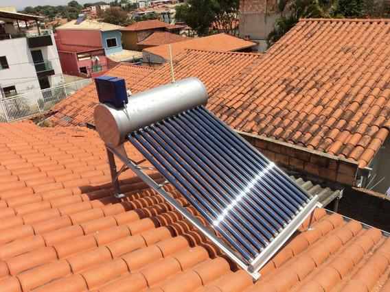 Aquecedor Solar Vacuo 36 Tubos Boiler Acoplados 450 Litros