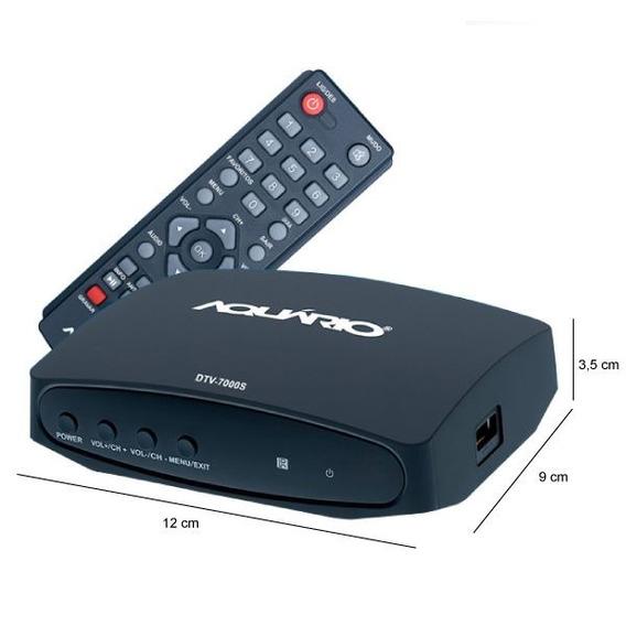 Conversor Digital Aquário Dtv-7000s Gravador Full Hd C/ Hdmi