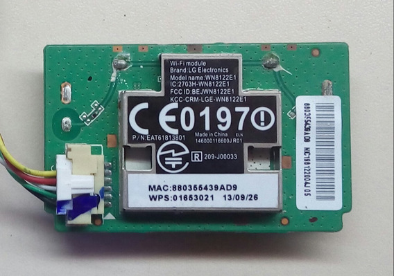 Placa Modulo Wi-fi Tv Lg 42ln5700 Wn8122e1