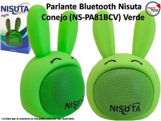 Parlante Portátil Bluetooth Nisuta Conejo (ns-pa81bc) Verde