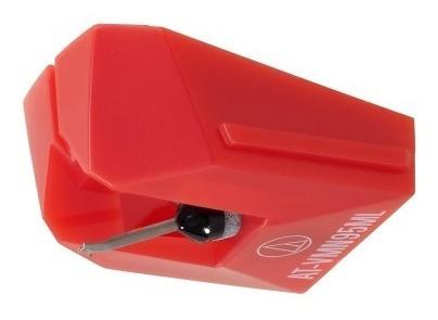 Agulha Audio Technica At-vmn95ml Vermelha Microlinear