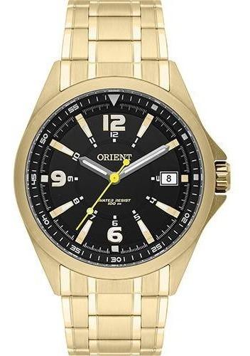 Relógio Orient Masculino Dourado Esporte 100 Metros Mgss1107