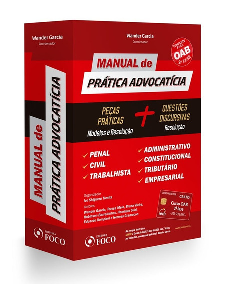 Manual De Pratica Advocatícia - Wander Garcia Livro - Oab
