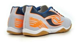 Chuteira Dalponte Futsal Branca/azul/laranja