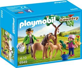 Playmobil 6949 Pônei Com Potro E Veterinário Prod.europ.novo