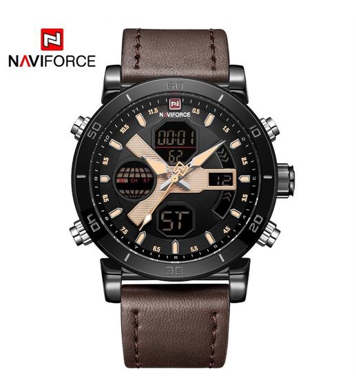 Relógio Naviforce 9132, Original, Caixa, Resistente A Água