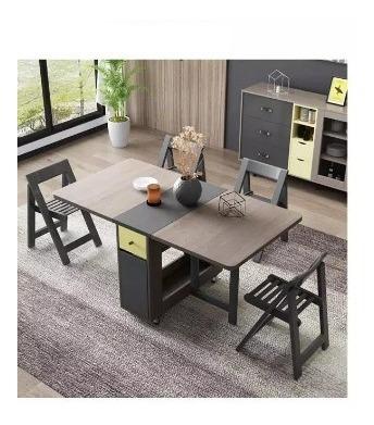 Mesa Dobravel Mesa Com Cadeira Mesa Extensiva Mesa Elastica