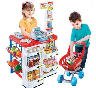 Niños Juguete Supermercado Carrito De Compra Con Sonido Luz