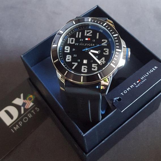 Relógio Tommy Hilfiger Pulseira De Borracha Original