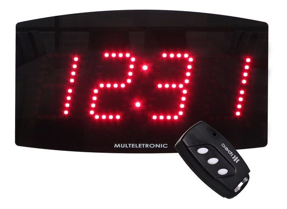 Relógio Led De Parede Empresas Alarme Sirene Programável
