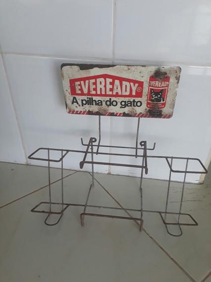 Expositor E Testador De Pilhas Eveready Antigo