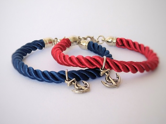 Pulsera Hombre Mujer Ancla Pack 2 Unidades