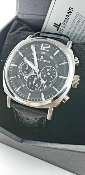 Relógio Jacques Lemans, Crono Original, Estojo E Certificado