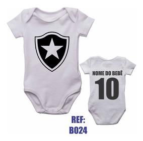 Body Infantil Botafogo Bebê Futebol Personalizado