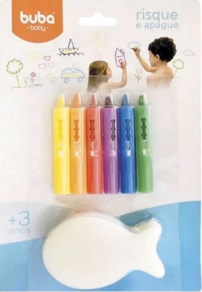 Lápis Risque E Apague Com Esponja - Colorido - Buba