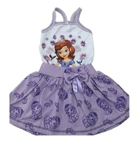 Vestido Infantil Roupa Princesa Sofia