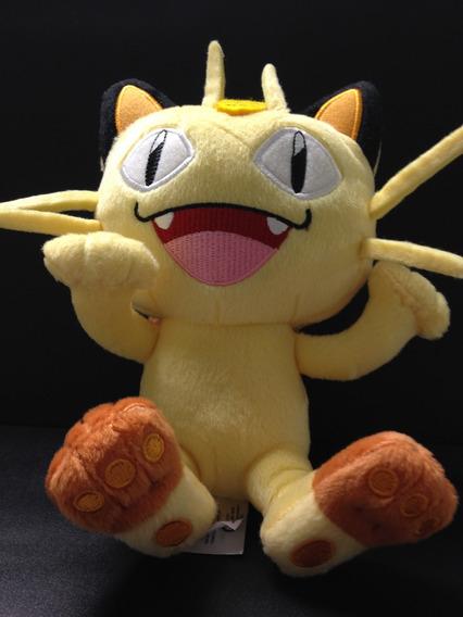 Pelúcia Meowth -equipe Rocket -pokémon- 20cm Original