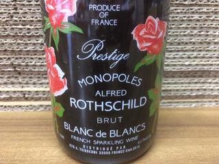 Champagne Rothschild Prestige Monopoles Brut Blanc De Blancs
