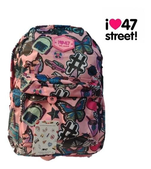 Mochila 47 Street Chica Nena Escolar Original 100% Importada