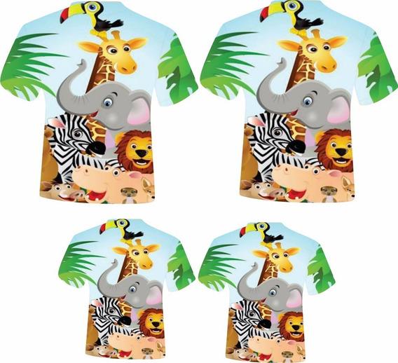 Camisas Masc. Adulto E Infantis - Safári 1