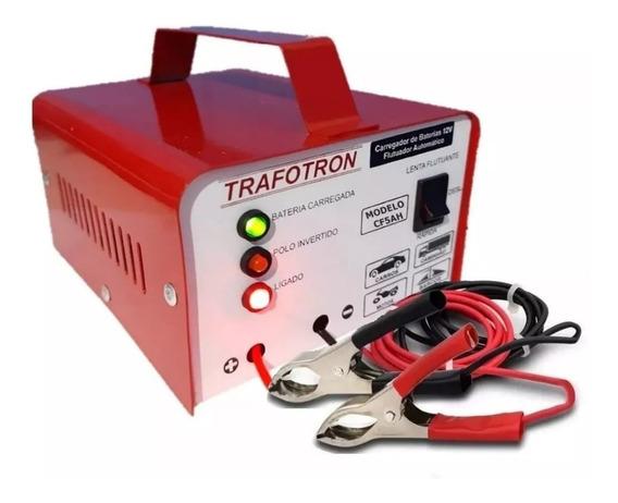 Carregador Bateria Veicular 5ah 12v 110 220v Cf5 Flutuante